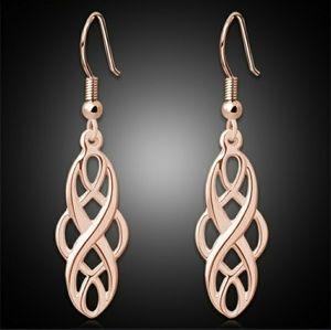 Rose Gold Toned Earrings